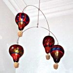 "Mobile made by Gerald B. from Gourds By Grace ""hot air balloons"""